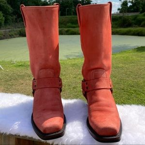 Frye *Rare* Coral Harness Square Toe Lady 6.5 Boot
